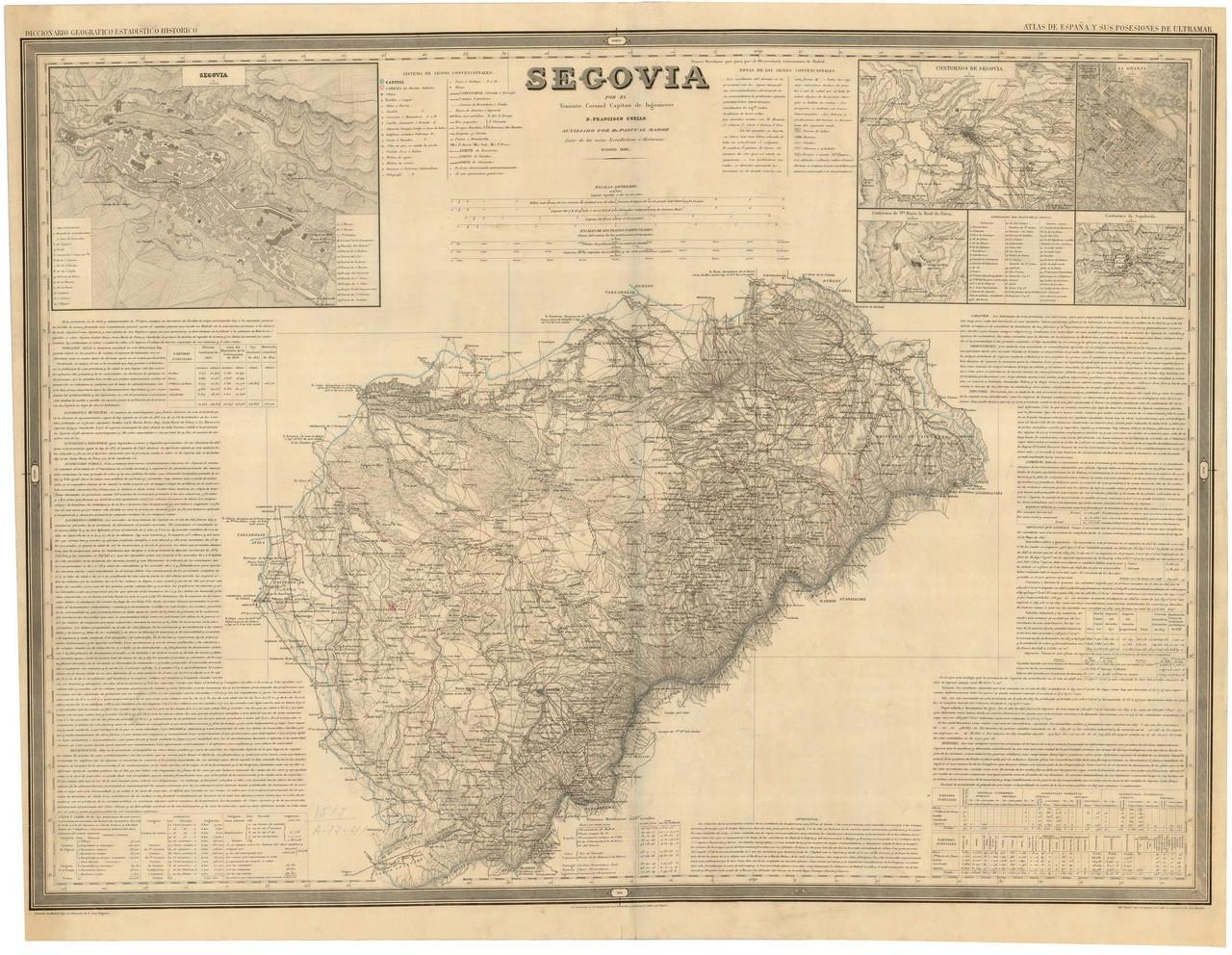 Detalle del plano de Segovia de Francisco Coello, 1849. 5.- ARCHIVO GENERAL MILITAR DE MADRID. Signatura SG 01-11.