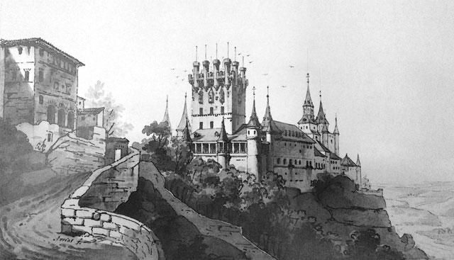 Grabado del Alcázar Avrial
