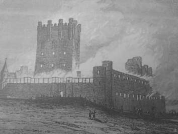 Grabado del Incendio (Spínola) 6 de marzo de 1862.