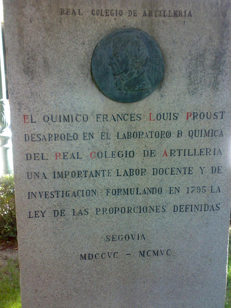 Joseph Louis Proust - Casa Química