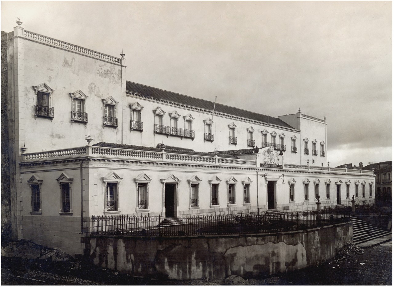 Fachada de San Francisco, 1912-1913. 27.- ACADEMIA DE ARTILLERÍA, BIBLIOTECA. FOT. 39-14.