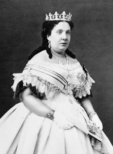 Foto de la reina Isabel II de España.