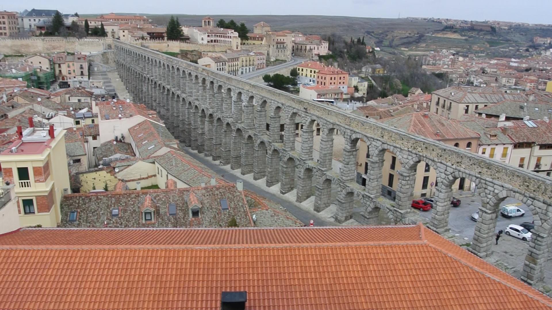 Acueducto de Segovia visto desde la Academia de Artillería