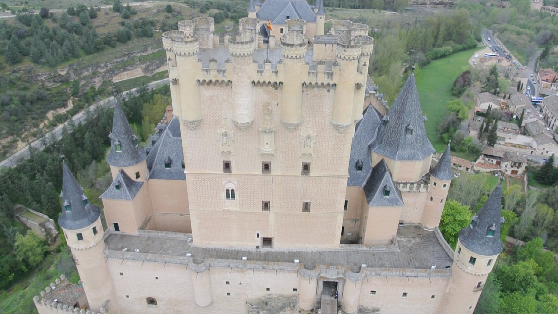 Vista aérea Alcázar de Segovia