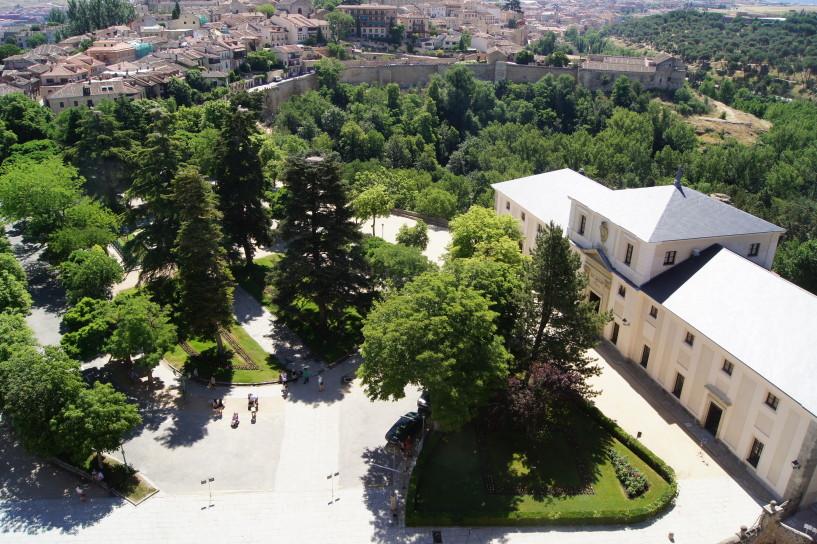 Vista aérea de la Casa de la Química del Alcázar de Segovia