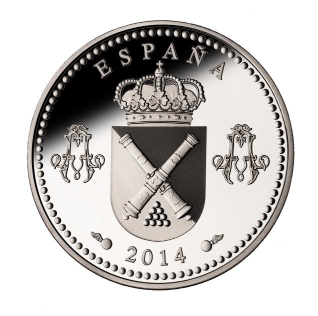 Moneda 250 Real Colegio de Artilleria