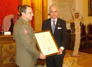 La Academia de Artillería, miembro de honor de la Fundación Carlos III